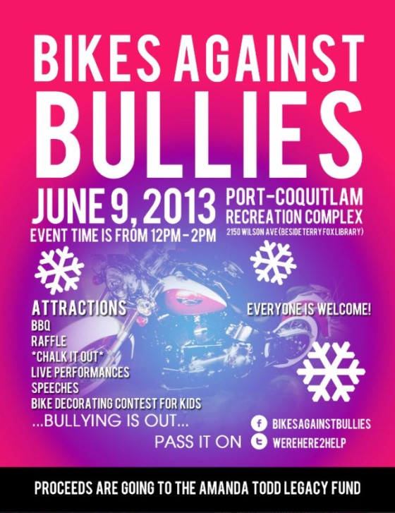 Bikes Against Bullies Poster